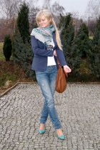 Orsay jeans - Vero Moda blazer - Mango bag - H&M heels - Royal Collection t-shir