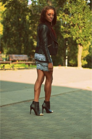 tribal print American Apparel dress - dress - gold toe asos boots