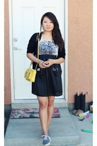 modcloth dress - yellow crossbodybag the sak bag