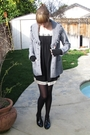 Black-vintage-dress-gray-harve-benard-coat-black-thrifted-shoes-black-fing