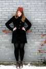 Tawny-vintage-hat-black-rw-co-blazer-black-urban-outfitters-skirt-brown-