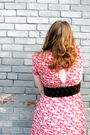 Pink-aerie-dress-black-dollhouse-shoes-gold-thrifted-belt