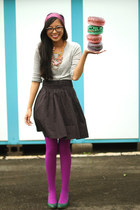 We Love Colors tights - thrifted vintage scarf - Urban Outfitters skirt - JCrew
