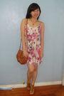 Beige-sm-department-store-dress-brown-mango-purse-brown-pill-shoes-gold-ra