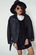 moto jacket Urban Outfitters jacket - knitblack sweater