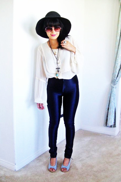 American Apparel pants - vintage blouse