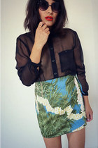 printed vintage skirt