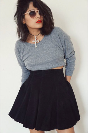 vintage skirt - American Apparel sweatshirt