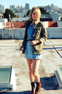 Blue-fidelity-denim-dress-green-h-m-jacket-brown-urban-outfitters-boots-br