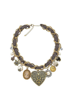 brown Topshop necklace