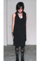 schwingschwing dress - diva accessories - DKNY accessories - socks - Topshop tig