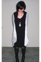 schwingschwing dress - jacket - GoJane boots - accessories