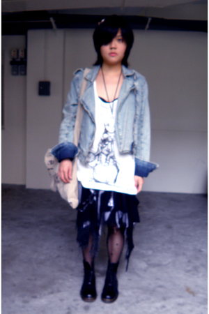 handmade by FUNKDECO accessories - Pull & Bear jacket - cotton on top - GLP skir