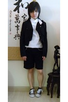 Gap shirt - 2cm jacket - Uniqlo shorts - jazz star shoes