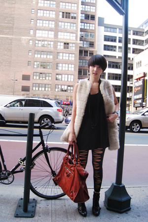H&M top - Zara vest - Forever 21 leggings - Nine West shoes - balenciaga - Urban