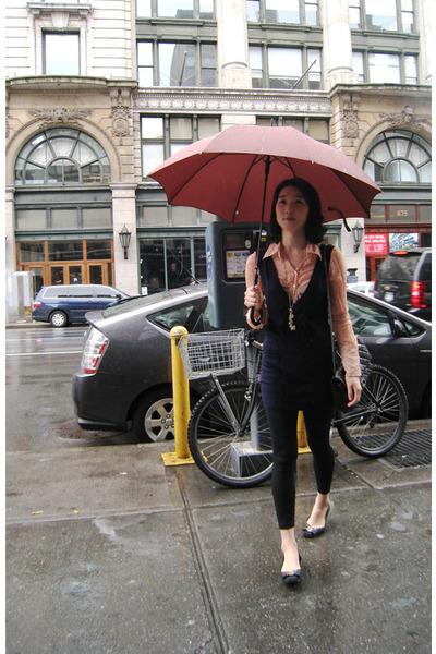 vintage blouse - vintage vest - American Apparel - Chanel purse - H&M accessorie