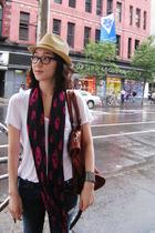 Urban Outfitters hat - Alexander Wang t-shirt - Alexander McQueen scarf - curren