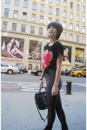 H&M dress - American Apparel leggings - Dr Martens boots - PROENZA SCHOULER purs