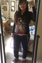 forever 21 shirt - tokidoki shirt - Hot Topic pants - Pac Sun belt - Tarina Tara