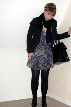 The warehouse dress - Pimkie blazer - DinSko shoes - H&M scarf - Iris Horbach ac