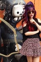 leopard print skirt skirt - black twopercent hong kong top