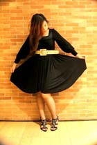 black black dress Gerry Katigbak dress - black black and gold Juan heels