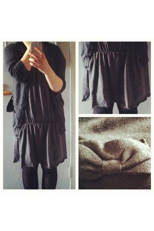 wool  cardigan - fleece  dress