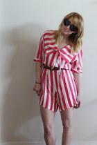 red striped vintage romper