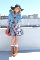camel booties Chloe Sevigny for Opening Ceremony shoes - black gingham Betsey Jo