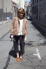 Brown-pointy-vintage-shoes-light-brown-cropped-anthropologie-jacket-white-la