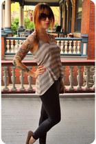 black leatherette American Apparel leggings - dark brown tortoise shell Forever