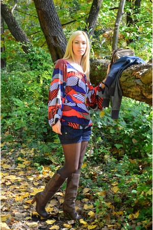 salmon Miss Sixty blouse - blue Miss Sixty blouse - dark brown Nine West boots