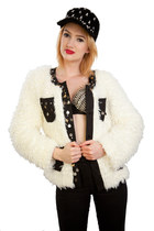 Fuzzy Coco Faux Fur White Coat