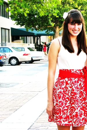 Forever21 skirt - forever 21 accessories - Anne Taylor shirt