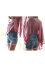 Blue-zara-shorts-pink-vest-red-naima-heels