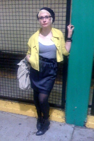 forever 21 coat - American Apparel top - from a target go collection skirt - pay