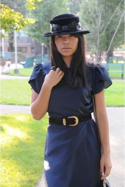 vintage dress - vintage hat - Marc Chantal purse - Vince Camuto shoes