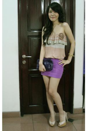 Mango dress - Miu Miu shoes - Topshop skirt - Miu Miu purse