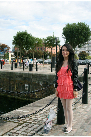H&M dress - American Apparel stockings - Camden Market jacket - Topshop shoes -