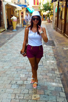 maroon Primark shorts