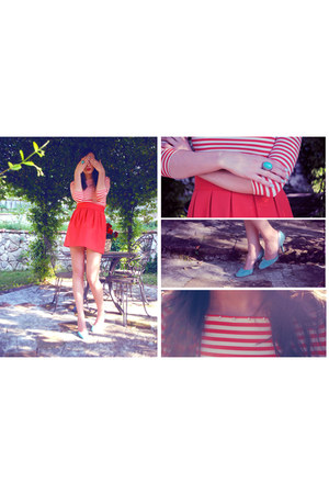 Love sex money shirt - Fornarina heels - H&M ring - Zara skirt