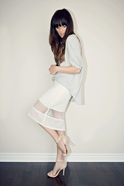 white choiescom skirt - tan ankle strap Ardene heels