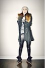 Black-military-sheinside-coat-black-wedge-isabel-marant-sneakers