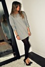Gray-forever-21-sweater-black-ardene-leggings-black-aldo-shoes-purple