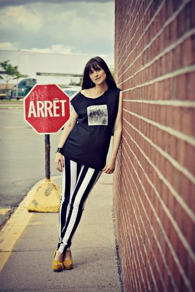 black vertical stripe Motel Rocks jeans