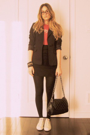 Zara blazer - Urban Outfitters t-shirt - Costa Blanca - H&amp;M tights - foot locker