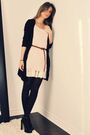 Black-h-m-cardigan-pink-ardene-top-beige-ebay-dress-brown-ardene-belt-bl