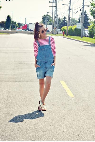 blue denim overalls Zara romper