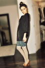 Black-simons-shirt-blue-h-m-shorts-gray-h-m-stockings-brown-aldo-shoes-g