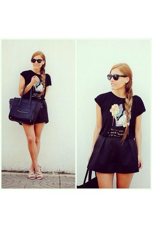 la pantera lola t-shirt - Front Row Shop shorts - Vpfashion hair accessory